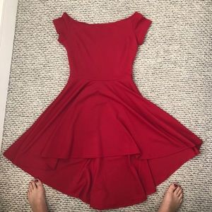 Red Cocktail Dress (high and low)